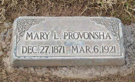 PROVONSHA, MARY L. - Maricopa County, Arizona | MARY L. PROVONSHA - Arizona Gravestone Photos