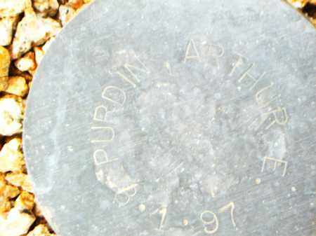 PURDIN, ARTHUR E. - Maricopa County, Arizona | ARTHUR E. PURDIN - Arizona Gravestone Photos