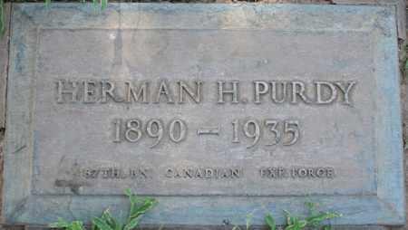 PURDY, HERMAN H - Maricopa County, Arizona   HERMAN H PURDY - Arizona Gravestone Photos