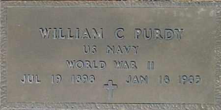 PURDY, WILLIAM C - Maricopa County, Arizona | WILLIAM C PURDY - Arizona Gravestone Photos