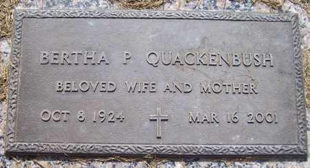 QUACKENBUSH, BERTHA P. - Maricopa County, Arizona   BERTHA P. QUACKENBUSH - Arizona Gravestone Photos