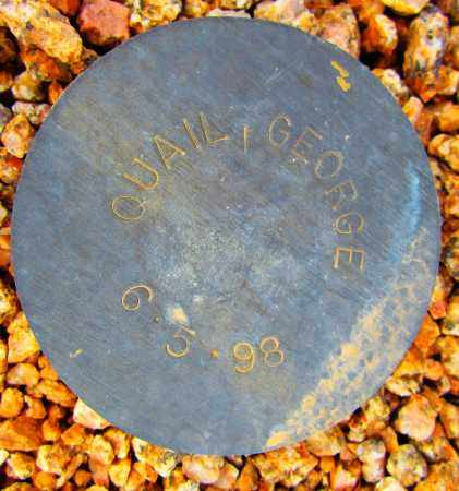 QUAIL, GEORGE - Maricopa County, Arizona   GEORGE QUAIL - Arizona Gravestone Photos