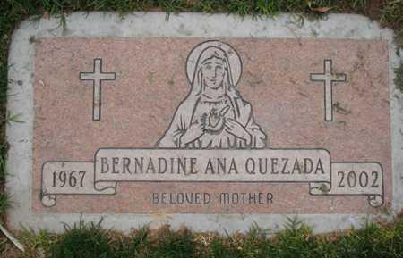 QUEZADA, BERNADINE ANA - Maricopa County, Arizona | BERNADINE ANA QUEZADA - Arizona Gravestone Photos