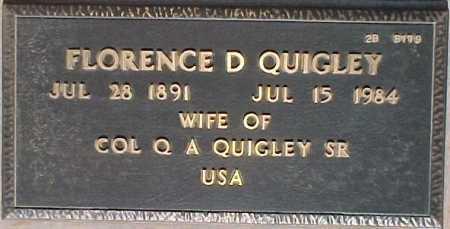 QUIGLEY, FLORENCE D. - Maricopa County, Arizona   FLORENCE D. QUIGLEY - Arizona Gravestone Photos