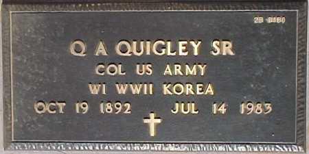 QUIGLEY, Q. A., SR. - Maricopa County, Arizona   Q. A., SR. QUIGLEY - Arizona Gravestone Photos