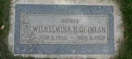 QUINLAN, WILHELMINA H. - Maricopa County, Arizona | WILHELMINA H. QUINLAN - Arizona Gravestone Photos