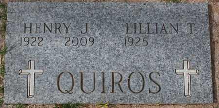 QUIROS, HENRY J - Maricopa County, Arizona | HENRY J QUIROS - Arizona Gravestone Photos