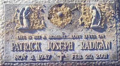 RADIGAN, PATRICK JOSEPH - Maricopa County, Arizona | PATRICK JOSEPH RADIGAN - Arizona Gravestone Photos