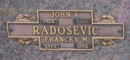 RADOSEVIC, JOHN A - Maricopa County, Arizona   JOHN A RADOSEVIC - Arizona Gravestone Photos