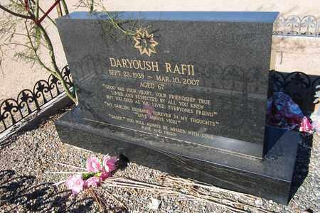 RAFII, DARYOUSH - Maricopa County, Arizona   DARYOUSH RAFII - Arizona Gravestone Photos