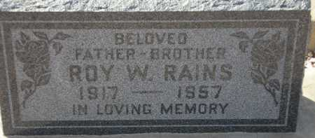RAINS, ROY W. - Maricopa County, Arizona | ROY W. RAINS - Arizona Gravestone Photos