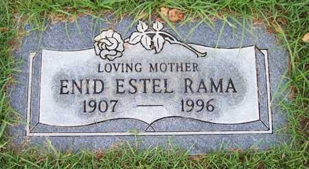RAMA, ENID ESTEL - Maricopa County, Arizona | ENID ESTEL RAMA - Arizona Gravestone Photos