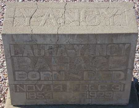 RAMAGE, LAURA YANCY - Maricopa County, Arizona   LAURA YANCY RAMAGE - Arizona Gravestone Photos