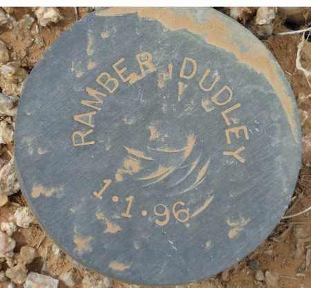 RAMBER, DUDLEY - Maricopa County, Arizona   DUDLEY RAMBER - Arizona Gravestone Photos