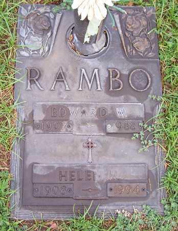 RAMBO, EDWARD W. - Maricopa County, Arizona | EDWARD W. RAMBO - Arizona Gravestone Photos