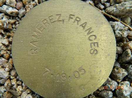 RAMEREZ, FRANCES - Maricopa County, Arizona   FRANCES RAMEREZ - Arizona Gravestone Photos