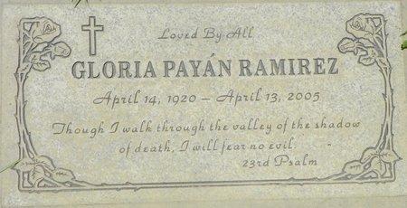 RAMIREZ, GLORIA PAYAN - Maricopa County, Arizona | GLORIA PAYAN RAMIREZ - Arizona Gravestone Photos