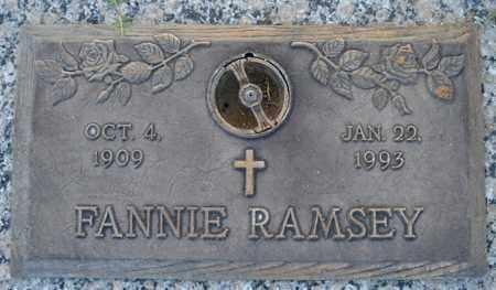 RAMSEY, FANNIE - Maricopa County, Arizona | FANNIE RAMSEY - Arizona Gravestone Photos