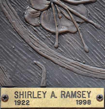 RAMSEY, SHIRLEY A. - Maricopa County, Arizona | SHIRLEY A. RAMSEY - Arizona Gravestone Photos