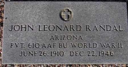 RANDAL, JOHN LEONARD - Maricopa County, Arizona | JOHN LEONARD RANDAL - Arizona Gravestone Photos