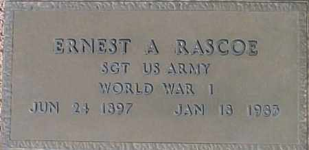 RASCOE, ERNEST A - Maricopa County, Arizona | ERNEST A RASCOE - Arizona Gravestone Photos