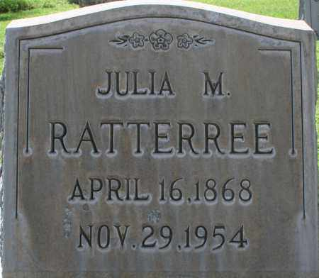 RATTERREE, JULIA M. - Maricopa County, Arizona | JULIA M. RATTERREE - Arizona Gravestone Photos