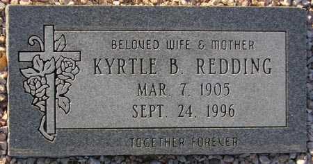 REDDING, KYRTLE B. - Maricopa County, Arizona | KYRTLE B. REDDING - Arizona Gravestone Photos
