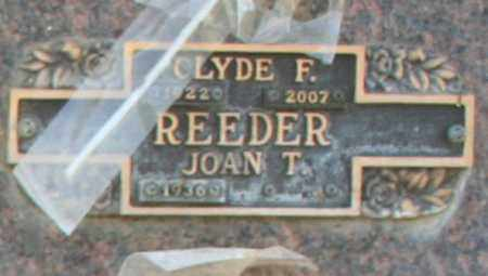 REEDER, JOAN T - Maricopa County, Arizona | JOAN T REEDER - Arizona Gravestone Photos