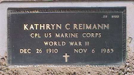 REIMANN, KATHRYN C. - Maricopa County, Arizona | KATHRYN C. REIMANN - Arizona Gravestone Photos