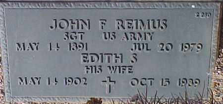 REIMUS, JOHN F. - Maricopa County, Arizona | JOHN F. REIMUS - Arizona Gravestone Photos