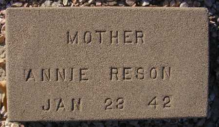 RESON, ANNIE - Maricopa County, Arizona | ANNIE RESON - Arizona Gravestone Photos