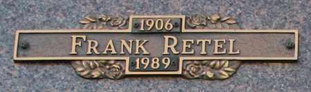 RETEL, FRANK - Maricopa County, Arizona   FRANK RETEL - Arizona Gravestone Photos