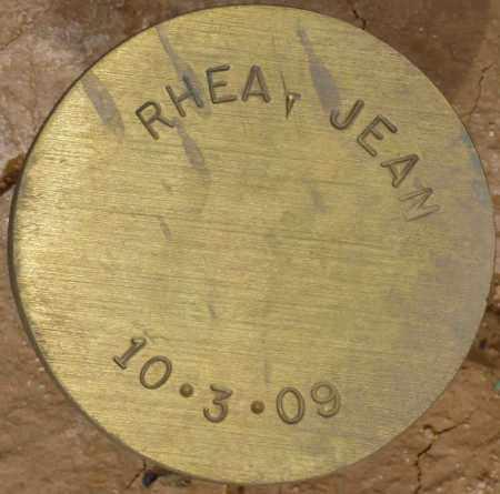 RHEA, JEAN - Maricopa County, Arizona | JEAN RHEA - Arizona Gravestone Photos