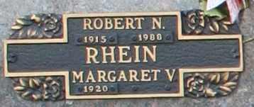 RHEIN, MARGARET V - Maricopa County, Arizona   MARGARET V RHEIN - Arizona Gravestone Photos