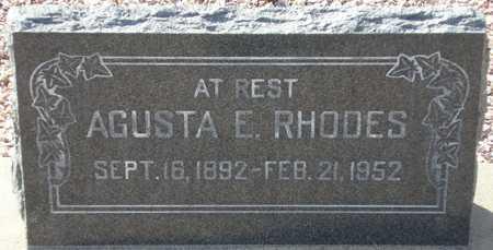 RHODES, AGUSTA E. - Maricopa County, Arizona | AGUSTA E. RHODES - Arizona Gravestone Photos