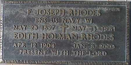 RHODES, EDITH HOLMAN - Maricopa County, Arizona | EDITH HOLMAN RHODES - Arizona Gravestone Photos