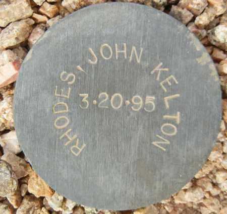 RHODES, JOHN KELTON - Maricopa County, Arizona | JOHN KELTON RHODES - Arizona Gravestone Photos