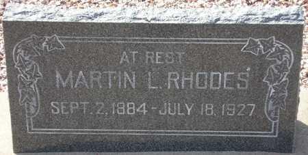 RHODES, MARTIN L. - Maricopa County, Arizona | MARTIN L. RHODES - Arizona Gravestone Photos