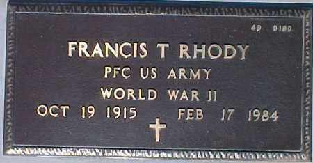 RHODY, FRANCIS T. - Maricopa County, Arizona | FRANCIS T. RHODY - Arizona Gravestone Photos