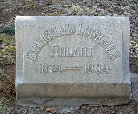 LOCKMAN RHUART, EVANGELINE - Maricopa County, Arizona | EVANGELINE LOCKMAN RHUART - Arizona Gravestone Photos