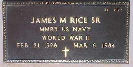 RICE, JAMES M., SR. - Maricopa County, Arizona   JAMES M., SR. RICE - Arizona Gravestone Photos