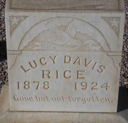 RICE, LUCY DAVIS - Maricopa County, Arizona | LUCY DAVIS RICE - Arizona Gravestone Photos