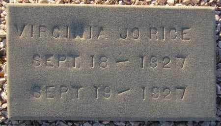 RICE, VIRGINIA JO - Maricopa County, Arizona | VIRGINIA JO RICE - Arizona Gravestone Photos