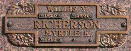 RICHERSON, MYRTLE K - Maricopa County, Arizona   MYRTLE K RICHERSON - Arizona Gravestone Photos