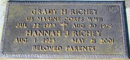 RICHEY, HANNAH J. - Maricopa County, Arizona | HANNAH J. RICHEY - Arizona Gravestone Photos