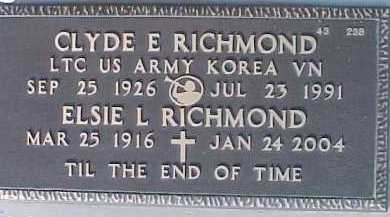 RICHMOND, CLYDE E. - Maricopa County, Arizona | CLYDE E. RICHMOND - Arizona Gravestone Photos