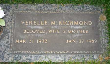 RICHMOND, VERELLE M. - Maricopa County, Arizona   VERELLE M. RICHMOND - Arizona Gravestone Photos