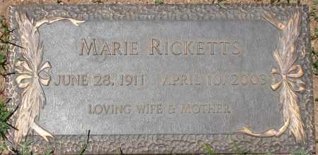 RICKETTS, MARIE - Maricopa County, Arizona   MARIE RICKETTS - Arizona Gravestone Photos