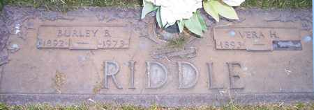 RIDDLE, BURLEY B. - Maricopa County, Arizona | BURLEY B. RIDDLE - Arizona Gravestone Photos