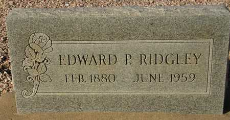 RIDGLEY, EDWARD P. (NEW MARKER) - Maricopa County, Arizona | EDWARD P. (NEW MARKER) RIDGLEY - Arizona Gravestone Photos